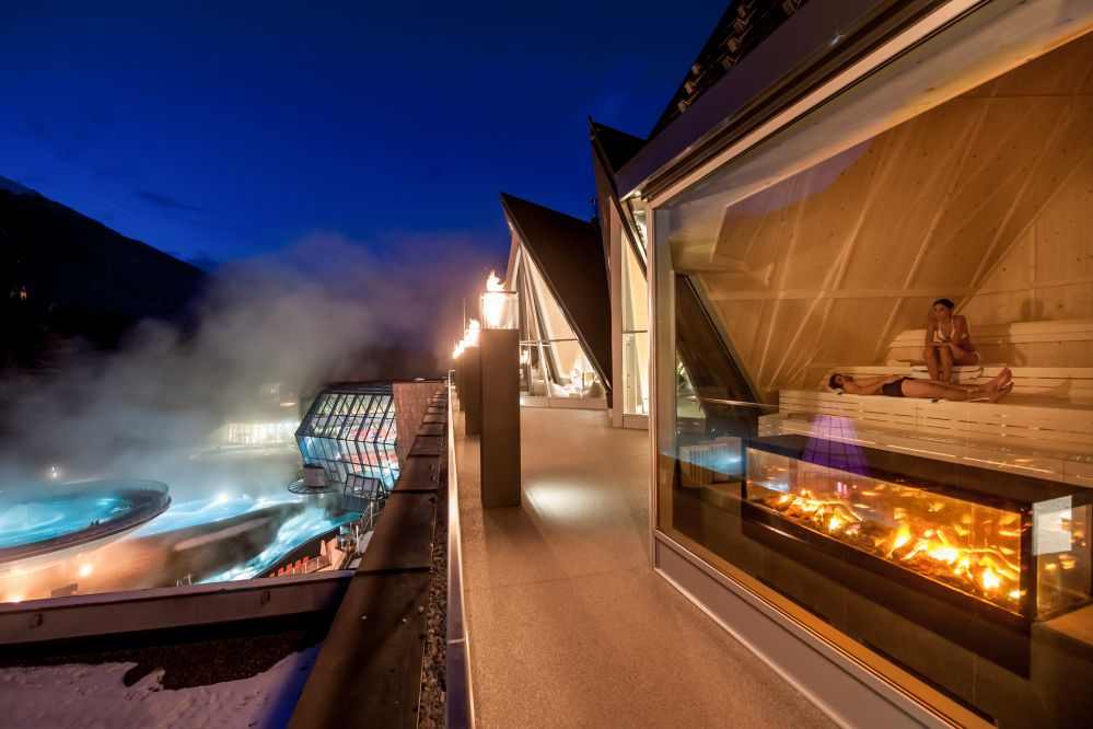 Aqua Dome, Fire Sauna - Outdoor